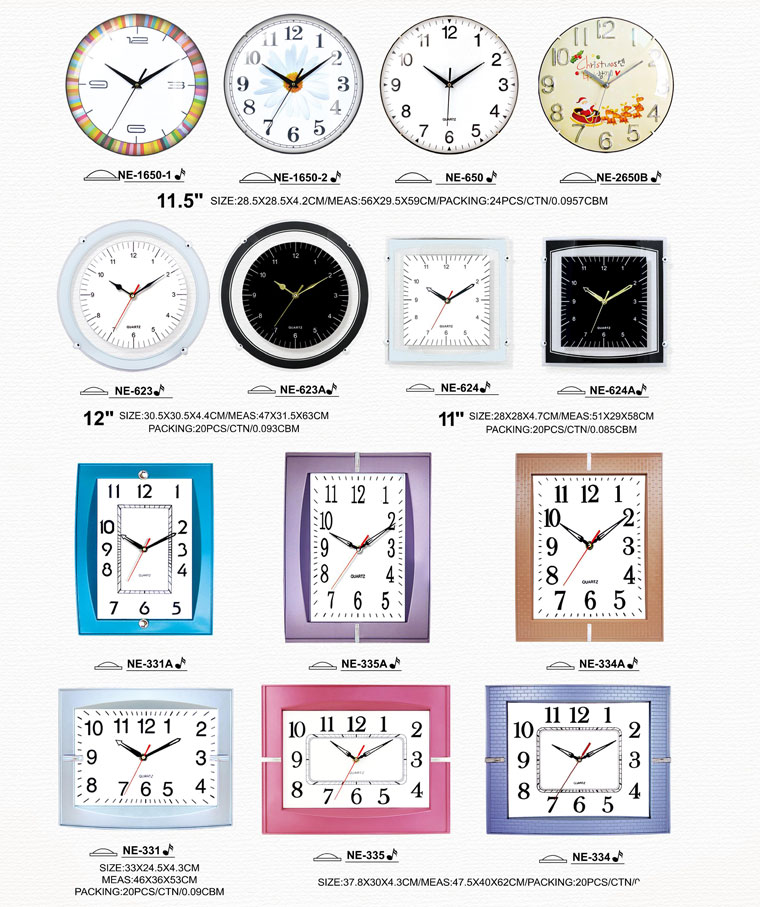Page066 Arched/Silk Printing Glass Clocks