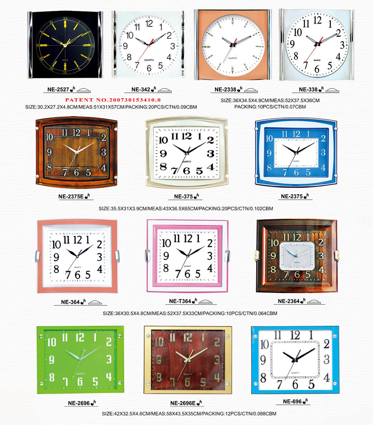 Page067 Arched/Silk Printing Glass Clocks