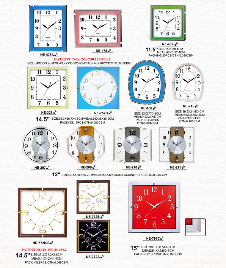 Page068 Silk Printing Glass Clocks