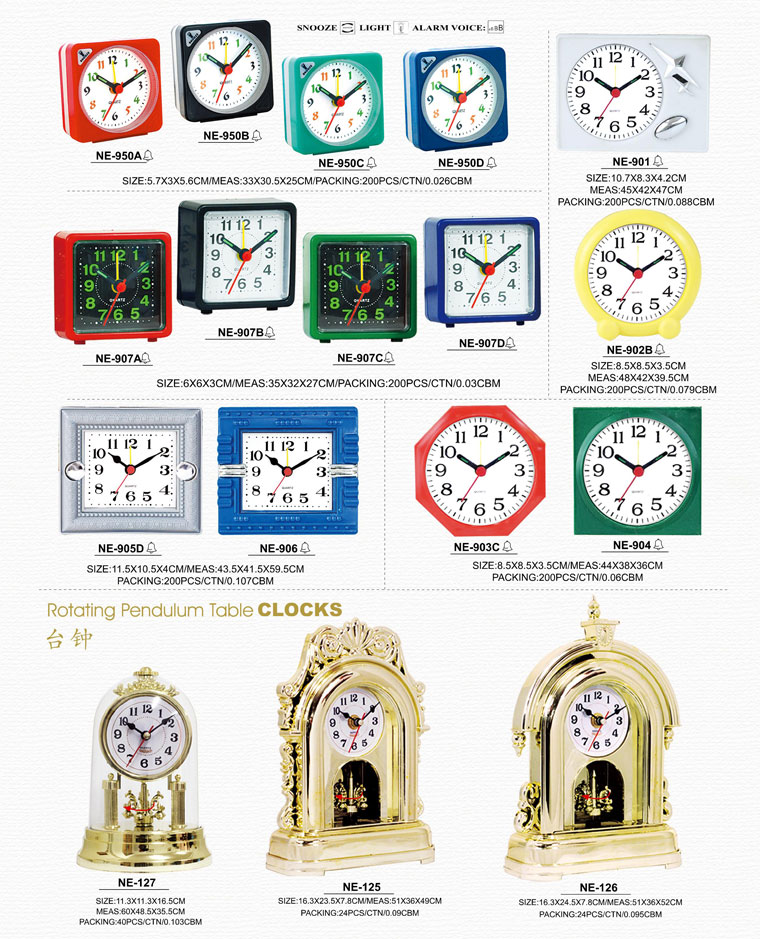 Page127 Travlling Alarm Clocks